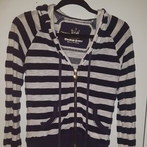 Twisted heart striped hoodie